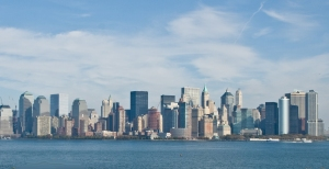 New York Skyline as seen from Ellis Island, Manhattan, New York