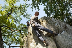 Team building : escalade à Fontainebleau